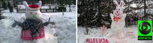 Nie z czekolady, a ze śniegu. Króliczki wielkanocne według Reporterów24