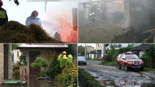 Setki interwencji strażaków, jedna ofiara śmiertelna. Skutki piątkowych nawałnic