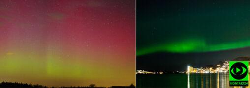 Dwie noce z rzędu oglądaliśmy w Polsce wspaniałe zorze polarne