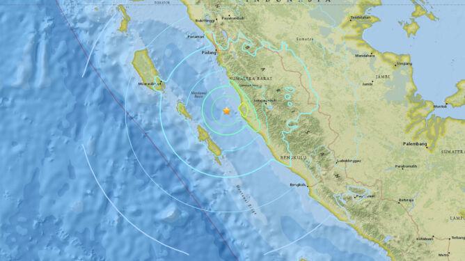 Trzęsienie ziemi na Sumatrze. Miało magnitudę 6.5