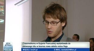 Adam Okniński o PW-Sat (TVN24)